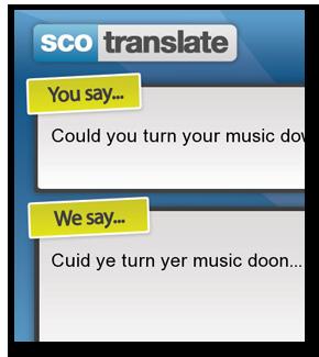 how to use the 1 english to scottish slang translator scotranslate